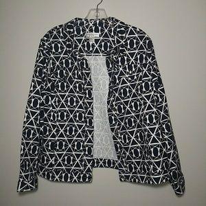 Christopher Banks Navy & White Geometric Jacket